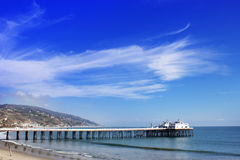 Malibu Lagoon State Beach in Malibu California. Malibu Pier California USA. Malibu Lagoon State Beach Stock Photography
