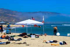 Malibu Lagoon State Beach. Is a state protected beach of California, United States, and a unit of the Santa Monica Mountains National Recreation Area. Also Royalty Free Stock Photo