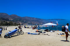 Malibu Lagoon State Beach. Is a state protected beach of California, United States, and a unit of the Santa Monica Mountains National Recreation Area. Also Stock Photo