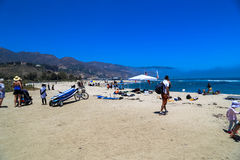 Malibu Lagoon State Beach. Is a state protected beach of California, United States, and a unit of the Santa Monica Mountains National Recreation Area. Also Stock Photography