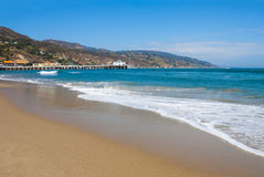 Malibu Lagoon State Beach. (Surfrider Beach) in Malibu, California Royalty Free Stock Images