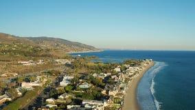 Malibu-Luftküstenlinien-Häuser stock video