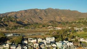 Malibu-Luftküstenlinien-Häuser stock video footage