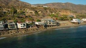 Malibu-Luftküstenlinien-Häuser stock footage