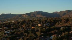 Malibu-Luftpunkt Dume-Häuser stock video footage