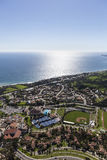 Malibu  and Pacific Ocean Aerial Stock Photo