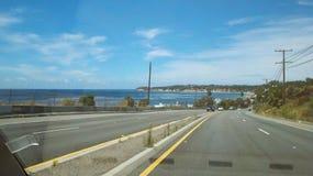 Malibu PCH, Ειρηνικός Ωκεανός ασβεστίου Στοκ φωτογραφίες με δικαίωμα ελεύθερης χρήσης