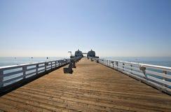 Malibu Pier. Famous Malibu Pier on a bright sunny California morning Royalty Free Stock Photos
