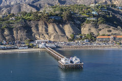 Malibu Pier Aerial Royalty Free Stock Photography