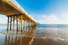 Malibu Pier At Sunset Stock Photography