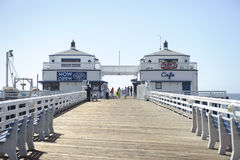 Malibu Pier in California. A shot of the entrance of Malibu Pier in California Stock Photography