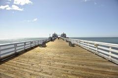 Malibu Pier in California. A shot of the entrance of Malibu Pier in California Stock Photography