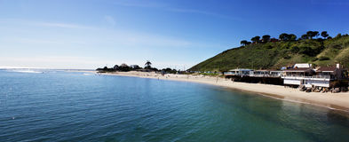 Malibu Pier, California, USA. Malibu Lagoon State Beach. Malibu Lagoon State Beach in Malibu, California Stock Photography