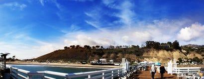 Malibu Pier, California, USA. Malibu Lagoon State Beach Stock Photography