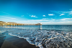 Malibu pier on a clear day Royalty Free Stock Photography