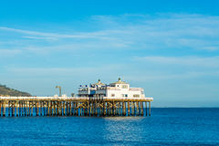 Malibu pier on a clear day. California Royalty Free Stock Photography