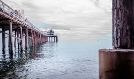 Malibu Pier. Early afternoon on Malibu Pier California Royalty Free Stock Photos