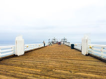 Malibu Pier. Famous Malibu Pier on a cloudy summer morning Royalty Free Stock Images