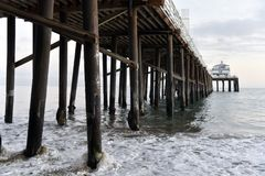 Malibu Pier. On a hazy day Stock Photos