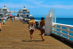 Malibu Pier Royalty Free Stock Images