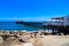 Malibu Pier. This image was taken on the Malibu Pier in California in June 2015 Royalty Free Stock Photo