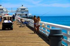 Malibu Pier Royalty Free Stock Photo