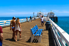 Malibu Pier Royalty Free Stock Photos