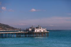 Malibu Pier. The Malibu Pier juts into the ocean north of Santa Monica, California Royalty Free Stock Images