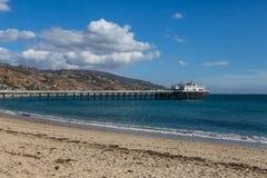 Malibu Pier. The Malibu Pier juts into the ocean north of Santa Monica, California Stock Photography