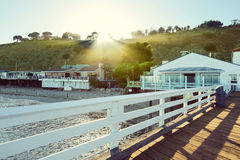 Malibu Pier, Malibu, California, USA. Dreamy Malibu Pier, Malibu, California, USA Royalty Free Stock Photo