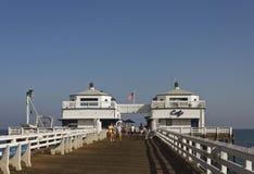 Malibu Pier promenade Royalty Free Stock Photography