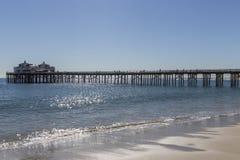 Malibu-Pier in Süd-Kalifornien Lizenzfreies Stockbild