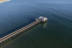 Malibu Pier and Santa Monica Bay Aerial Royalty Free Stock Photos