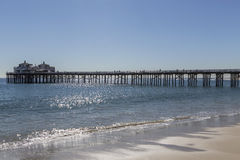 Malibu Pier in Southern California. Malibu pier near Los Angeles, California Royalty Free Stock Image