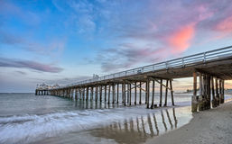 Malibu pier. At sunset Royalty Free Stock Image