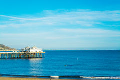 Malibu pier at sunset. California Royalty Free Stock Photos