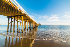 Malibu pier at sunset. California Stock Photography