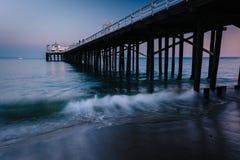 The Malibu Pier at twilight, in Malibu, California. Royalty Free Stock Images