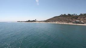 Malibu-Pier- und -strandpanorama stock video footage