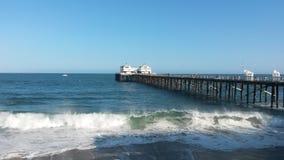 Malibu pier. View of Malibu pier Royalty Free Stock Image