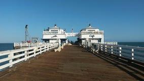 Malibu pier. View along Malibu pier Royalty Free Stock Photography
