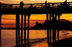 Malibu plaży zimy dzień Fotografia Stock