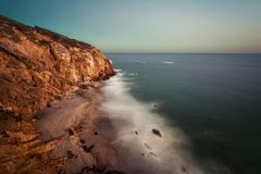 Malibu Point Dume Sunset. Taken in 2015 Stock Image