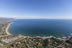 Malibu Santa Monica Bay Ocean View. Aerial view of Santa Monica Bay from the Paradise Cove area of Malibu, California Royalty Free Stock Images