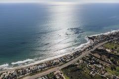 Malibu Shoreline Aerial nea Los Angeles. Aerial view of Malibu shoreline near Los Angeles, California Royalty Free Stock Photo