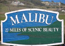 Malibu Sign Stock Image