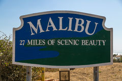 Malibu Sign Stock Photography