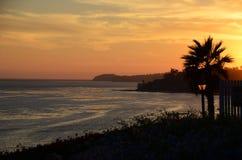 Malibu solnedgång Royaltyfri Bild