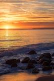 Malibu solnedgång royaltyfri foto