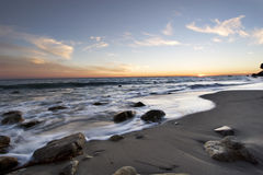 Malibu Sonnenuntergang stockbild